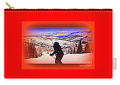 Carry-all Pouch featuring the photograph Deer Valley Utah Powder by Richard W Linford