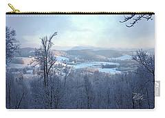Deer Valley Winter View Carry-all Pouch by Meta Gatschenberger