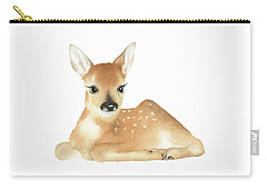 Carry-all Pouch featuring the painting Deer Watercolor by Taylan Apukovska