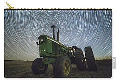 Carry-all Pouch featuring the photograph Deere Trails  by Aaron J Groen