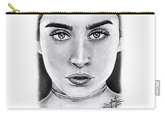 Lauren Jauregui Drawing By Sofia Furniel  Carry-all Pouch by Sofia Furniel