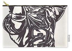 Carry-all Pouch featuring the drawing Deion Sanders by Jeremiah Colley