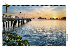 Del Norte Pier And Spring Sunset Carry-all Pouch by Greg Nyquist