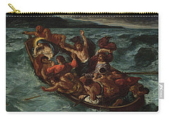 Carry-all Pouch featuring the painting Delacroix Christ Asleep by Granger