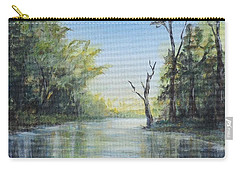 Carry-all Pouch featuring the painting Delaware River  by Katalin Luczay