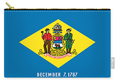 Delaware State Flag Carry-all Pouch by Robert Banach