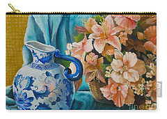 Delft Pitcher With Flowers Carry-all Pouch by Marlene Book
