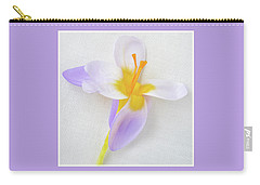 Carry-all Pouch featuring the photograph Delicate Art Of Crocus by Terence Davis