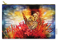 Carry-all Pouch featuring the photograph Delicate Beauty by Aaron Berg