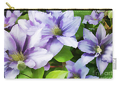 Delicate Climbing Clematis  Carry-all Pouch by Judy Palkimas