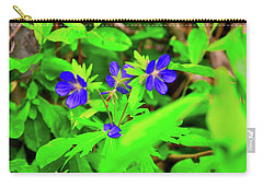 Delicate Flowers Carry-all Pouch by Joe Burns
