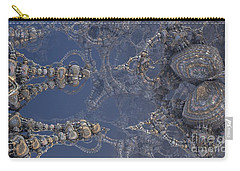 Carry-all Pouch featuring the digital art Delicate Fractal by Melissa Messick