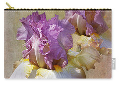 Delicate Gold And Lavender Iris Carry-all Pouch