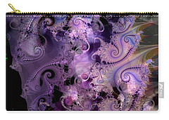 Delicate Lavender Forms Carry-all Pouch by Ron Bissett