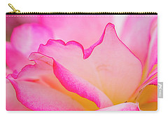 Delicate Pink And White Rose Carry-all Pouch by Teri Virbickis