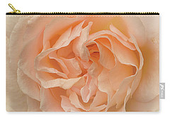 Delicate Rose Carry-all Pouch by Jacqi Elmslie