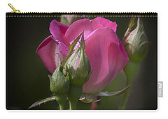Delicate Rose With Buds Carry-all Pouch