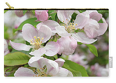 Delicate Soft Pink Apple Blossom Carry-all Pouch by Gill Billington