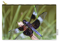 Carry-all Pouch featuring the photograph Delicate Wings Of A Dragonfly by Kerri Farley