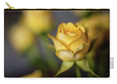 Delicate Yellow Rose  Carry-all Pouch by Terry DeLuco
