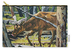 Carry-all Pouch featuring the painting Delicious Greens, Yellowstone by Erin Fickert-Rowland
