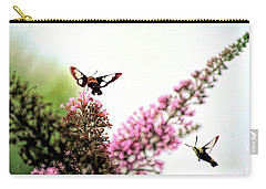 Carry-all Pouch featuring the photograph Delight And Joy - Hummingbird Moths In Flight by Kerri Farley