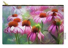 Delightful Coneflowers Carry-all Pouch by Diane Schuster