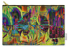 Carry-all Pouch featuring the digital art Deliriously Happy by Kiki Art