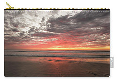 Delmar Beach San Diego Sunset Img 1 Carry-all Pouch by Bruce Pritchett