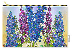 Delphinium Blue Carry-all Pouch by Janet Immordino