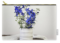 Carry-all Pouch featuring the photograph Delphinium Blue by Kim Hojnacki