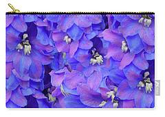 Delphinium Blue Carry-all Pouch by Shirley Heyn