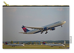 Delta Airlines Jet N827nw Airbus A330-300 Atlanta Airplane Art Carry-all Pouch
