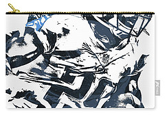 Carry-all Pouch featuring the mixed media Demarco Murray Tennessee Titans Pixel Art 2 by Joe Hamilton