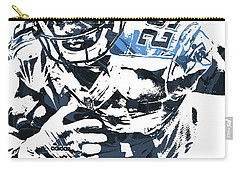Carry-all Pouch featuring the mixed media Demarco Murray Tennessee Titans Pixel Art by Joe Hamilton