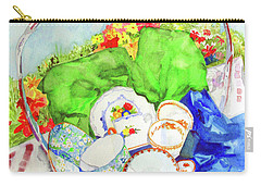 Carry-all Pouch featuring the painting Demitasse Picnic by Sandy McIntire