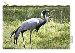 Carry-all Pouch featuring the photograph Demoiselle Crane by Teresa Zieba