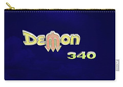 Carry-all Pouch featuring the photograph Demon 340 Emblem by Mike McGlothlen