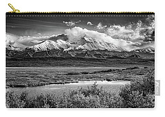 Denali, The High One In Black And White Carry-all Pouch