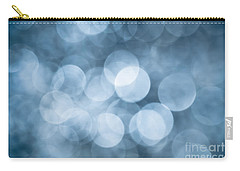 Carry-all Pouch featuring the photograph Denim Blue Bokeh by Jan Bickerton