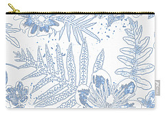 Denim Fern Batik Outline Carry-all Pouch
