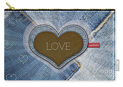 Denim Valentines Card Carry-all Pouch