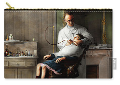 Carry-all Pouch featuring the photograph Dentist - Good Oral Hygiene 1918  by Mike Savad