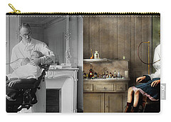 Carry-all Pouch featuring the photograph Dentist - Good Oral Hygiene 1918 - Side By Side by Mike Savad