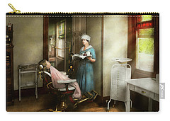 Carry-all Pouch featuring the photograph Dentist - Patients Is A Virtue 1920 by Mike Savad