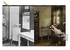 Carry-all Pouch featuring the photograph Dentist - Patients Is A Virtue 1920 - Side By Side by Mike Savad