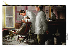 Carry-all Pouch featuring the photograph Dentist - The Horrors Of War 1917 by Mike Savad