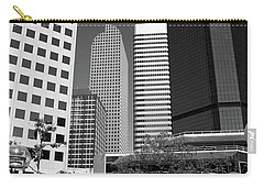 Denver Architecture Bw Carry-all Pouch by Frank Romeo