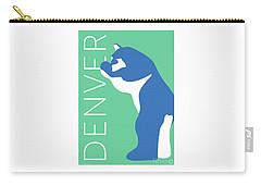 Denver Blue Bear/aqua Carry-all Pouch