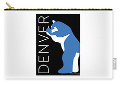 Denver Blue Bear/black Carry-all Pouch